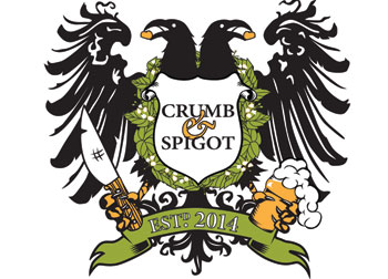 Coat of Arms for Crumb & Spigot developed by Westervelt Design