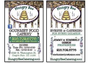 Business Cards for Hungry Bee developed by Westervelt Design
