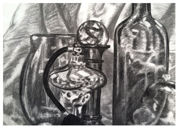 Charcoal still life by Stacy Westervelt