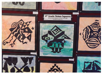 Notan Squares by students of Stacy Westervelt